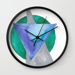 180818 Geometrical Watercolour 3 | Colorful Abstract | Modern Watercolor Art Wall Clock