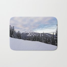 Mountains behind the trees Bath Mat