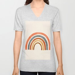 Abstract Rainbow 88 Unisex V-Neck