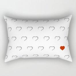 Hearts - Classic Red Rectangular Pillow