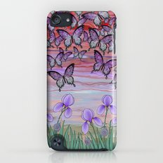 swallowtails, snails, & irises at sunrise Slim Case iPod touch