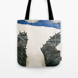 Ice Boots in Scotland Tote Bag