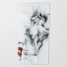 NUDEGRAFIA - 55 smoke Beach Towel
