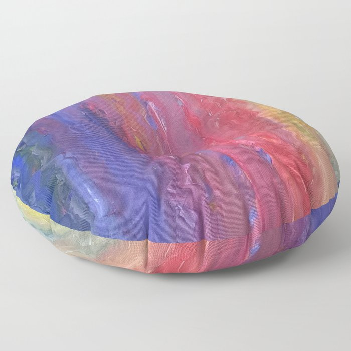Rainbow Fingers Floor Pillow