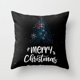 Merry Christmas and Australian flag Throw Pillow