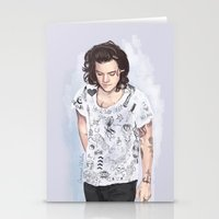 coconutwishes Stationery Cards featuring Harry 1D tattoos T-shirt by Coconut Wishes