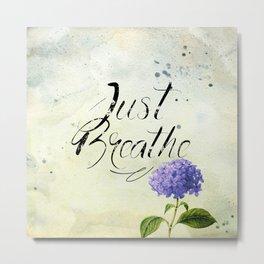 Just Breathe - Blue Metal Print