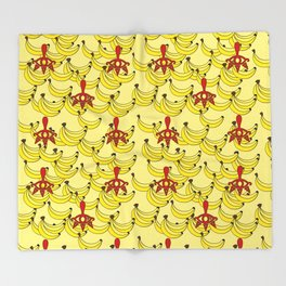 Banana Clan Throw Blanket