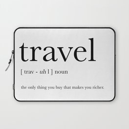 Travel Definition Laptop Sleeve