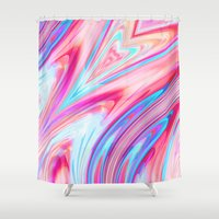 1989 Shower Curtains featuring Heart of Glass by Casey