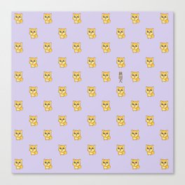 Hachikō, the legendary dog pattern Canvas Print