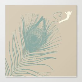 Jump Feather Canvas Print
