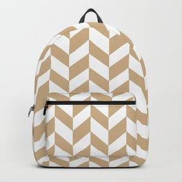 HERRINGBONE (TAN & WHITE) Backpack