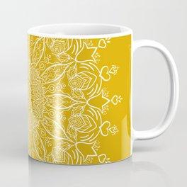 Tulip Mustard Yellow Boho Mandala Coffee Mug