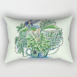 Blue Fairy On a Teapot Rectangular Pillow