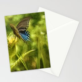 Black Swallowtail No. 2 painterly closer Stationery Cards
