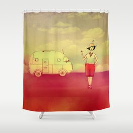 Let's go exploring Shower Curtain
