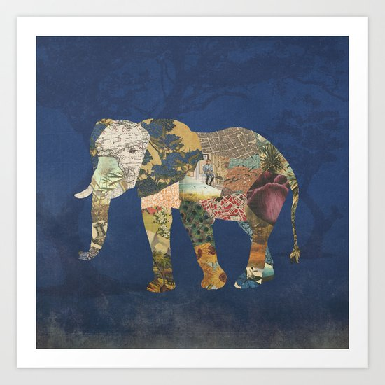 Elephant - The Memories of an Elephant Art Print