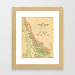 Vintage Geological Map of Juneau Alaska (1912) Framed Art Print