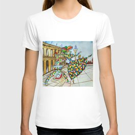 Arlecchino and Colombina. Carnival of Venice. T-shirt