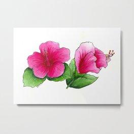 Bright Hibiscus Metal Print
