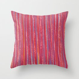 Stripes  - Candy pink red orange and blue Throw Pillow