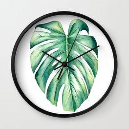 Costilla de Adán / Monstera deliciosa Wall Clock