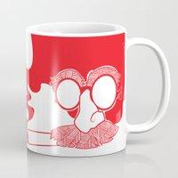marx Mugs featuring Groucho Marx by Stephanie Keir