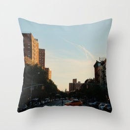1st Avenue, Downtown New York Throw Pillow