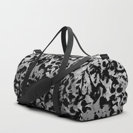 Abstract Magic - Silver Black Duffle Bag