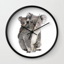 Koala bear and her baby Wall Clock