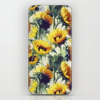 sunflowers iPhone & iPod Skins featuring Sunflowers Forever by micklyn