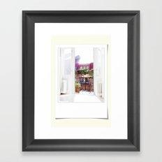 Polaroid moments Framed Art Print