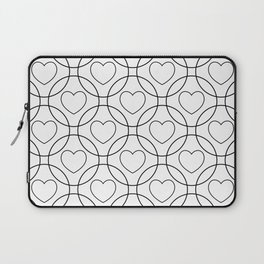 Decor with circles and hearts Laptop Sleeve