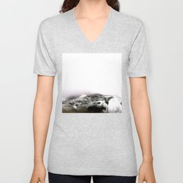 Winter comes to mountains Unisex V-Neck