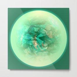 Chrystal Glow Green Abstract Metal Print