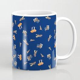 Mushroom Pattern - Navy Blue Coffee Mug