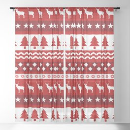 Christmas Pattern Sheer Curtain