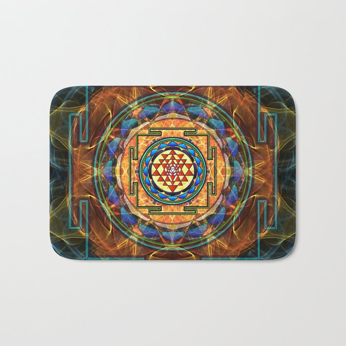 The Sri Yantra - Sacred Geometry Bath Mat