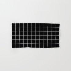 Black White Grid Hand & Bath Towel