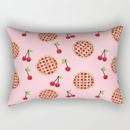 Pies trendy food fight apparel and gifts pink Rectangular Pillow