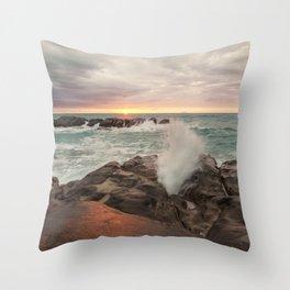 Magic sunset Throw Pillow