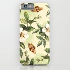 Delicate pattern with flowers and butterflies hips Slim Case iPhone 6s