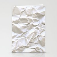 collage Stationery Cards featuring White Trash by pixel404