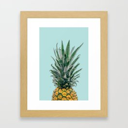 blue pineapple Framed Art Print
