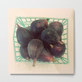 Figs in a Basket Color Photo Metal Print