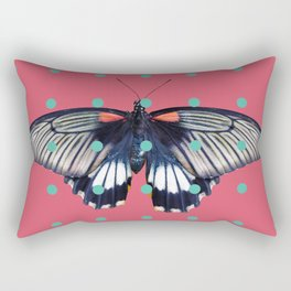 Butterflies and Polka Dots 01 Rectangular Pillow