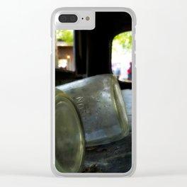 mason jar moonshine Clear iPhone Case