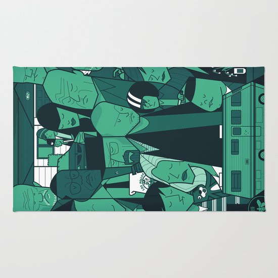 Breaking Bad (green version) Rug