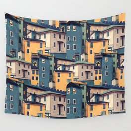 Night Castles (Pattern) Wall Tapestry